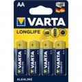 Батарейка VARTA LONGLIFE AA LR6 4 шт.