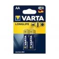 Батарейка VARTA LONGLIFE AA LR6 2 шт.