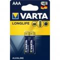 Батарейка VARTA LONGLIFE AAА LR03 2 шт.