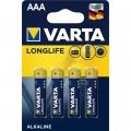 Батарейка VARTA LONGLIFE AAА LR03 4 шт.