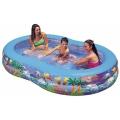 Бассейн детский надувной Райская Лагуна Intex 56490 (262х160х46 см)