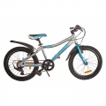 "Велосипед детский Lerock RX20 20"" Silver Blue"